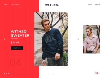 Mens Fashion Website Design