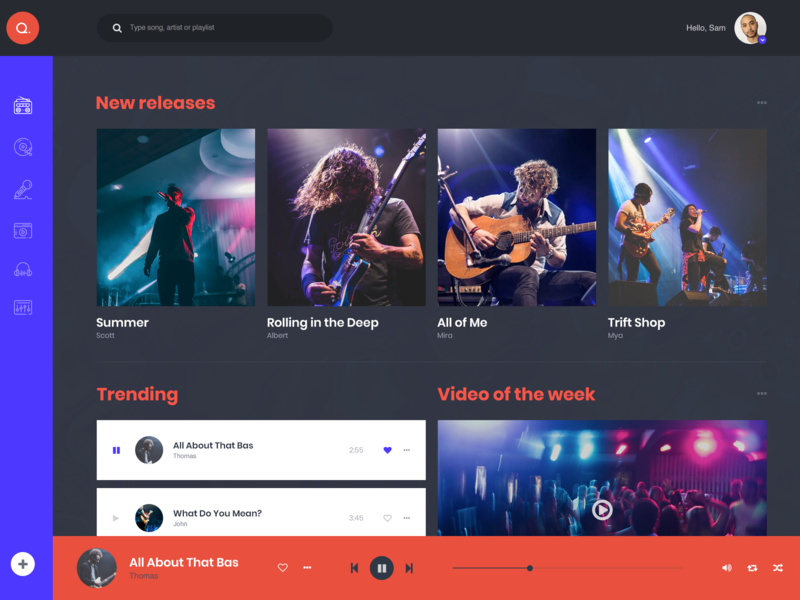 Web Based Music Player by Luke Peake for TIB Digital on Dribbble