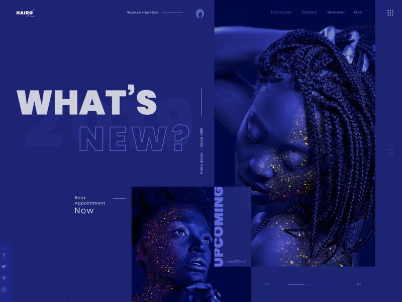Hairstyle Website by Luke Peake for TIB Digital on Dribbble