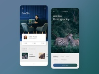 Photographer Mobile App Design