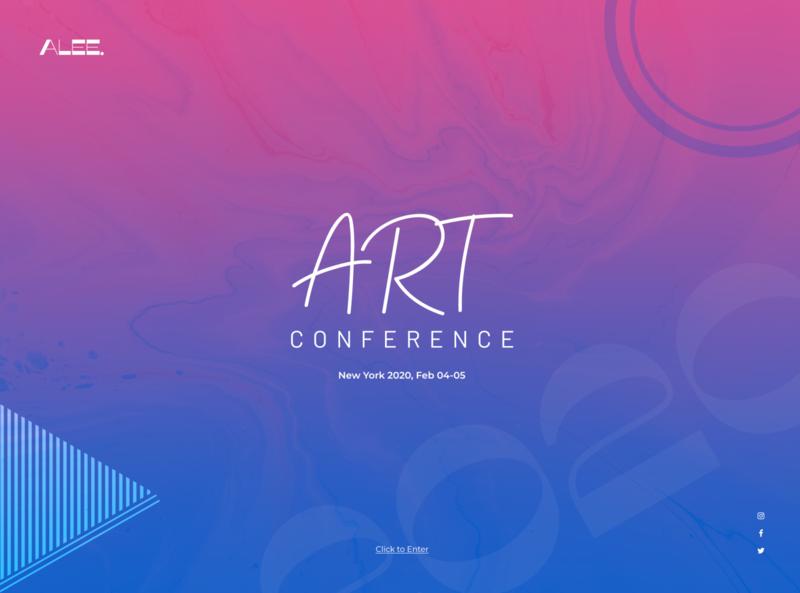 Art Conference Website Design branding website ux ui design web design agency inspiration web designer full width colors gradients bright bold conference art web design
