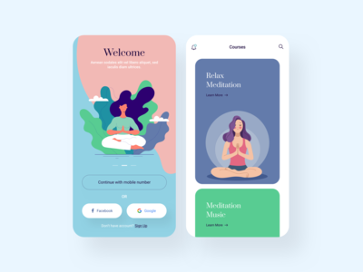 Meditation Mobile App Design