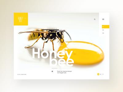 Honeybee Nature Style Website Design photography fullwidth design typography clean responsive full width inspiration ux ui webdesign website website design honey bee documentary wilderness nature honeybee bee honey