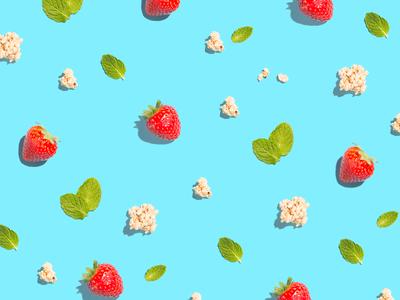 Snacks on Snacks on Snacks snacks food photography product styling styling product photography photography pattern granola mint strawberries