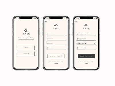 Daily UI Challenge // 001 // Sign Up Screen