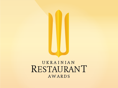 Ukrainian Restaurant Awards restaurant yellow logo