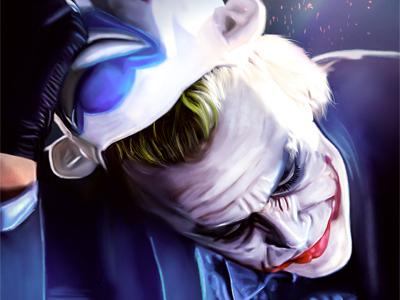 The Last Joker digital painting painting joker realistic painting