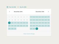 Calendar - Custom Range