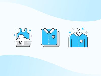 Laundry Ilustration laundry icon illustration design ux ui