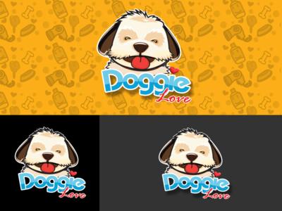 Logo Doggie love animal logo