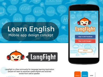 Langfight App Cover ux ui game app character design animal
