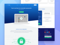 Password Manager Web Design - Home Page