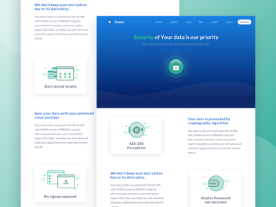 Security Page Design