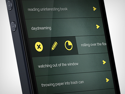 Waster app waster app iphone ios funny ui ux