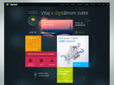 Digitask.sk Website Concept web surdo ux ui artdirection design webdesign website concept