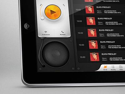 Radio app tablet version expres radio app ui user interface ipad