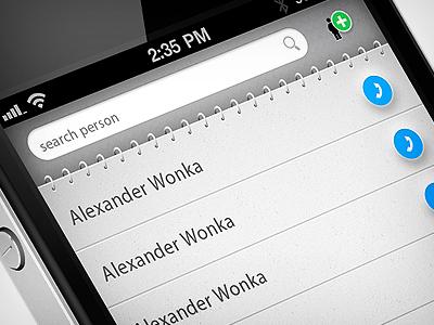 phonebook app phonebook app ios iphone ui