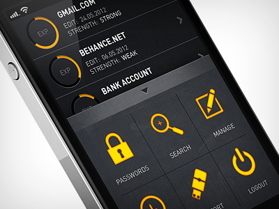 pass app dashboard iphone ios ui app dashboard password
