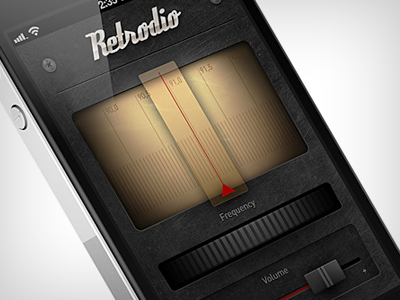 Retrodio retro radio iphone app mobile