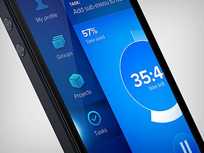 FLOW.NIZER  concept app iphone ios ui user interface app