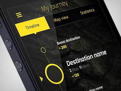 WarChest App Study warchest schurdak app ios application iphone tourism timeline ux ui