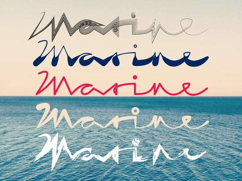 Marine widthstroke astute illustrator calligraphy typography handlettering lettering
