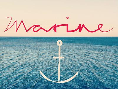 Marine anchor lettering handlettering typography calligraphy illustrator widthstroke