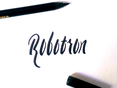 Robotron brushscript calligraphy typography handlettering lettering