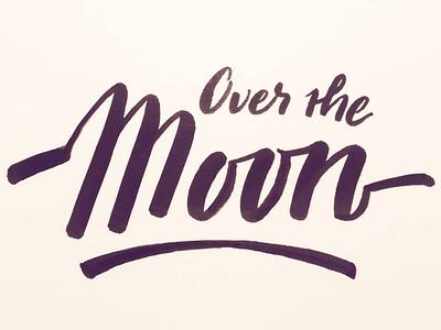 Moon brushscript calligraphy typography handlettering lettering