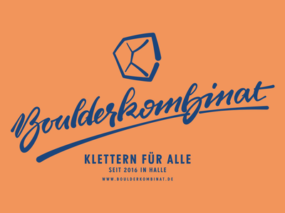 Boulderkombinat logo brushscript calligraphy typography handlettering lettering