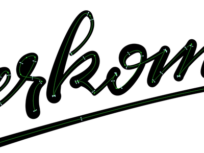 Working on path widths astute widthscribe astutegraphics illustrator brushscript calligraphy typography handlettering lettering