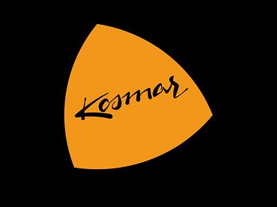 Kosmar calligraphy lettering logo
