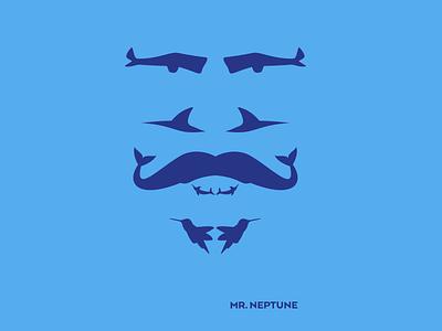 Mr. Neptune (T-Shirt) tshirt animal neptune face fish