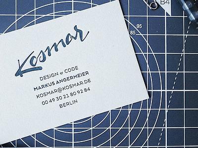 Businesscard logo businesscard letterpress handlettering lettering