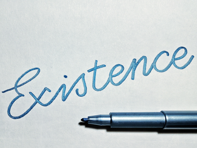 Existence monoline existence calligraphy typography handlettering lettering