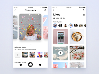 Photography pictures app UI design design ui picture personal mobile find camera app