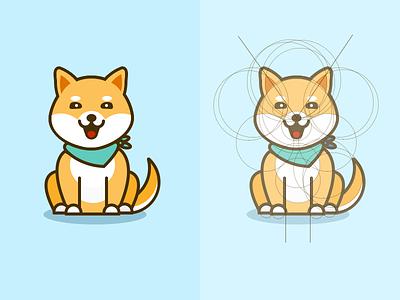 Shiba dog ui shiba picture mobile knapsack interface illustration icon dog design