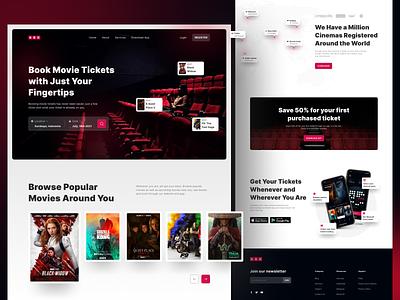 ABCinema Landing Page web design website design user experience ux landing page design concept ui user interface app