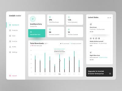 Iconlab Creator Dashboard chart user experience ux design icon designer dashboard design concept ui user interface app