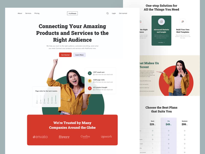 MailForest, Email Marketing Landing Page Interaction 💌 concept email service service hero mail send email connecting marketing email marketing email ux design user experience ux user interface ui design ui landing page web design web page design