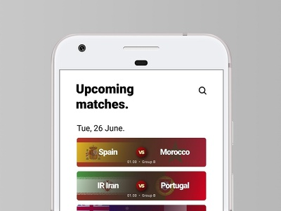 Fifa World Cup 2018 App world cup ui android app redesign football user interface cup world fifa