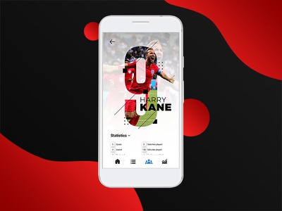 Player Profile Concept for Fifa World Cup world cup ui android app redesign football user interface cup world fifa