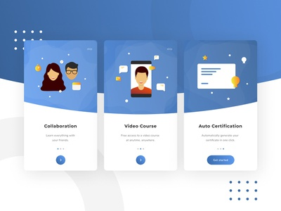 Online Learning App Onboarding - Redesign ios online learning learning illustration onboarding design concept redesign ui user interface app android