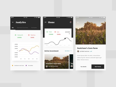 Investment Mobile App UI - Redesign investment page design concept redesign ui user interface app android