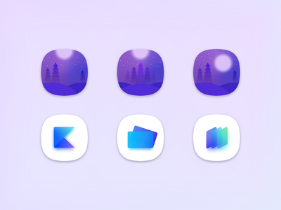 App Icon Design shape illustration logo gradient app icon