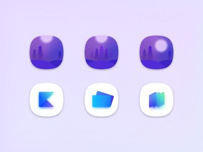 App Icon Design shape illustration logo gradient app icon