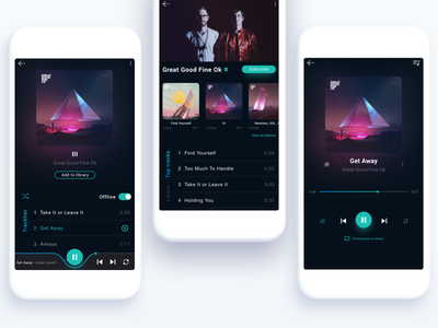 Music Player Reimagined interface app music dailyui music player