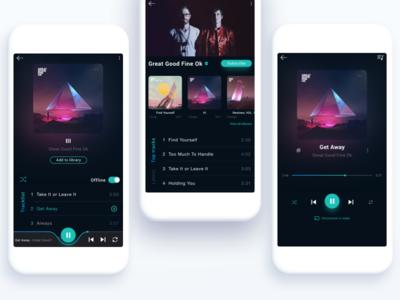 Music Player Reimagined interface app music dailyui music player