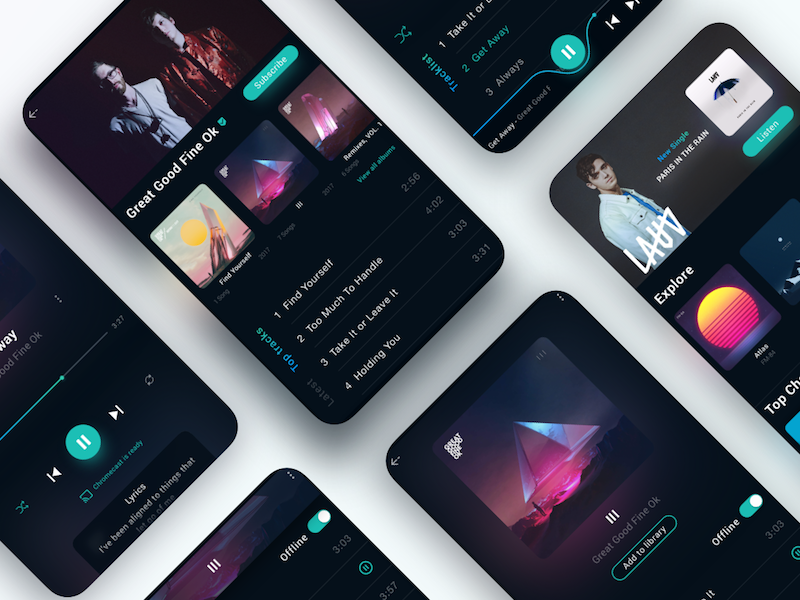 Spotify App Concept Interface Reloaded interface app music dailyui music player