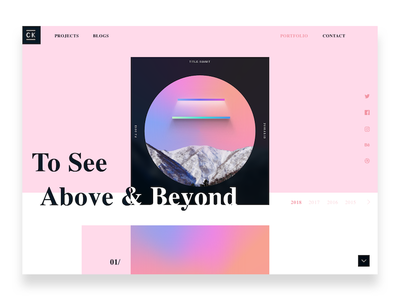 Portfofio experiments 01/ homepage design concept social sharing web portfolio